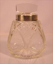 Alte Glasdose mit Silber aus Nachlass Wien