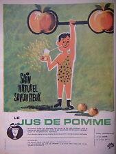 Publicités Papier Publicite 1965 Jus De Pomme Donne Des Vitamines