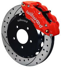 "WILWOOD DISC BRAKE KIT,FRONT,06-14 MAZDA MIATA MX-5,13"" DRILLED ROTORS,RED CALIP"