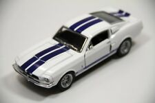 "New Kinsmart 5"" 1967 Shelby GT-500 Ford Mustang Diecast Model Toy Car 1:38 White"
