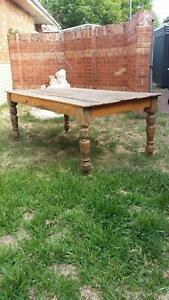 Vintage farm house table