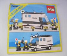 LEGO 6676 city town VINTAGE POLICE COMMAN VAN TRUCK SET-Book Manual Instructions