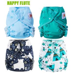 Happy Flute Organic Cotton Newborn Reusable AIO Cloth Diaper Reusable Fit 2-5kg