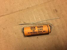 NOS Vintage Olson .008 uf 1600v Molded Paper Capacitor Guitar Amp Cap (Qty Avail