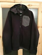 The North Face Mens Black Padded Hooded Full Zip Fleece Size XL
