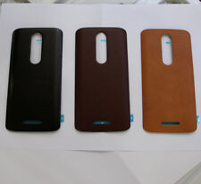 Real Leather battery Door Cover For Motorola Droid Turbo 2 XT1581 X Force Red