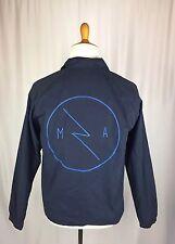 Modern Amusement Logo Men's Medium Super Soft Blue Light Weight Jacket