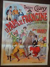 Original Vintage Opera Poster, Le Papa de Francine, 1900-1910
