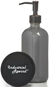 Gray Soap Dispenser w/ Oil Rubbed Bronze Soap Pump 8oz Soap Lotion Dispenser