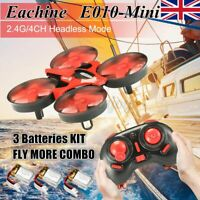Eachine E010 Mini 2.4GHz 4CH 360° Turning Headless RC Drone Quadcopter Kids Toy