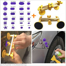 Car SUV Body Paintless Tools Bridge Dent Puller Removal + 24pc Glue Tabs
