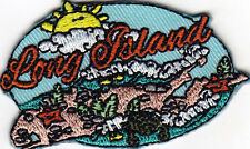 """LONG ISLAND"" PATCH-Iron On Embroidered Applique/School, City, Vacation, Trip"