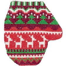 Klart Counted Cross Stitch Kit -  Christmas Decoration - Mitten with Deer