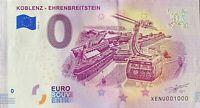 BILLET 0  EURO KOBLENZ EHRENBREITSTEIN  ALLEMAGNE 2018  NUMERO 1000
