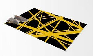 Van Halen Strip Yellow Area Rug Carpet