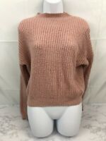 SHEIN Long Sleeve Cropped Sweater Womens One Size Peach Soft Knit Stretchy G1