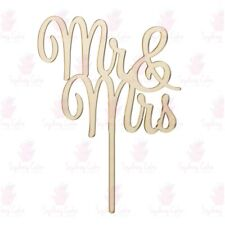 Mr & Mrs Wedding Acrylic Cake Topper - Mirror Gold, Mirror Rose Gold