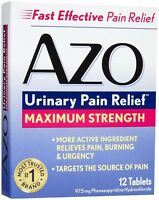 AZO Urinary Pain Relief Tablets, Maximum Strength, 12 count