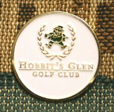 "Rare_ Limited Edition _ HOBBIT'S GLEN Golf Club 1"" Gold Plated Golf Ball Marker"