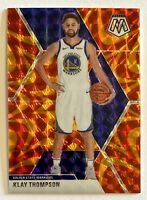 2019-20 Mosaic KLAY THOMPSON Orange Reactive Prizm Refractor, SP, Warriors
