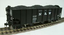 BROADWAY LIMITED N&W 3 BAY COAL HOPPER with COAL LOAD