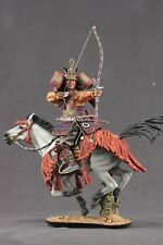 Tin toy soldiers ELITE painted 90 mm Samurai with a bow on horseback
