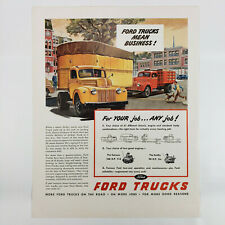 1946 Ford Truck Ad Commercial Semi Tractor Trailer Flatbed Delivery Trucking