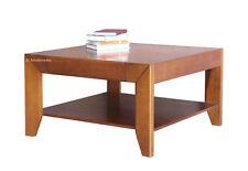 Table basse avec tiroir modèle, table de café en bois massif, table basse carée