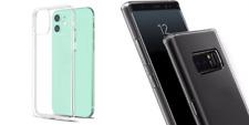 SAMSUNG,iPhone,HTC,Schutzhülle,Case,Cover,Silikon,Bumper,Transparent >> SLIM <<