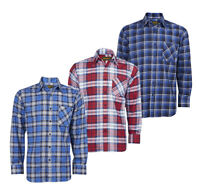 Mens 100% Cotton Flannel Checked Shirt ~ Small - 2XL