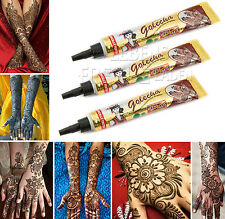 3x golecha Henna Pasta Rosso/Maroon in tubi á 25g-Henné TATOO-clinicamente testato