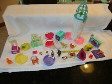 Vintage Littlest Pet Shop Kenner Mattel dog cat Kitten bunny hamster mixed lot