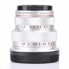 34mm F1.8 APS Prime Manual Lens FOR Olympus Panasonic MTF m4/3 Mount Camera SILV