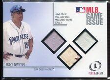 2001 Fleer Legacy MLB Game Issue 4 Tony Gwynn Triple Ball Base Jersey 38/50