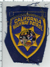 California Highway Patrol - Unfinished Shoulder Patch from the Early 1980's RARE