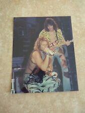 Van Halen Vintage Live 8x10 Combo Photo #4 Eddie Dlr