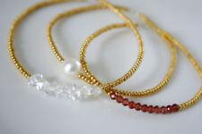 Handgefertigte Gelbgold beschichtete echten Armbänder mit Edelsteinen