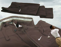 "New NIKE Mens GOLF TROUSERS Pants Relaxed Fit Brown W34"" iL32 """
