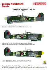 Techmod Decals 1/24 British HAWKER TYPHOON Mk-Ib Fighter Bomber Part 2