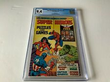 SUPER HEROES PUZZLES AND GAMES CGC 9.4 SPIDER WOMAN MAN HULK MARVEL COMICS 1979