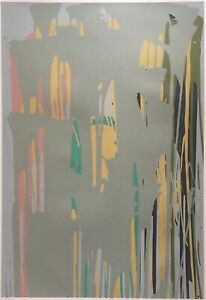 Larry Poons American Abstract Serigraph Signed Listed 1979