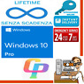 LICENZA WINDOWS 10 PRO RETAIL ORIGINAL 32/64 BIT PRODUCT KEY MULTILINGUA ESD