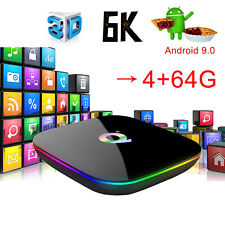 2019 6K Q plus 4+64GB Android 9.0 Pie Quad Core Smart TV Box WIFI 3D H.265 Media