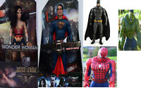 LARGE AVENGERS ACTION FIGURES - HULK BATMAN WONDER WOMEN SPIDERMAN - NEW BOXED