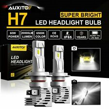 2x AUXITO H7 Bright White 6500K LED High/Low Beam Headlight Bulbs Conversion Kit