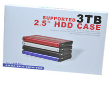 "USB SATA SSD HDD External Enclosure Case Box Caddy 2.5"" Hard Drive Laptop. 0261"