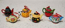 (6)Mary Engelbreit Me - Teapots Tea Pot Ornament bundle of 6*Free Shipping*