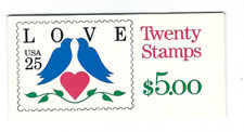 Scott #2441....25 Cent...LOVE BIRDS...Booklet with 20 Stamps MNH