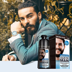 Beard Dye Shampoo Removal White Beard Hair Natural Permanent Shampoo For Men