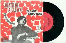 "DAVE DAVIES (the KINKS) 'Death of a Clown' 1967 DUTCH PYE PS EX VINYL 7""/45"